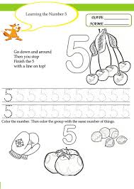 number 5 worksheets for children activity shelter