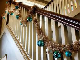 Christmas Decorations Banister How To Decorate A Staircase Railing For Christmas