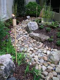 exterior nice plant fencing with river rock landscaping and brick