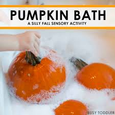 halloween activities for toddlers pumpkin bath busy toddler