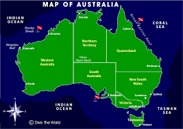 map of austrailia map of australia great barrier reef rowley shoals and neptune