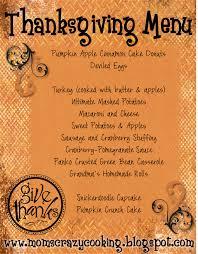 thanksgiving menu template home interiror and exteriro design