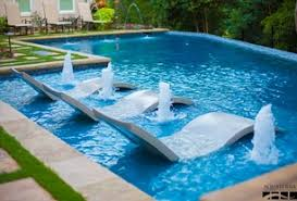 Backyard Inground Swimming Pools Modern Swimming Pool With Exterior Stone Floors Pool With Sun