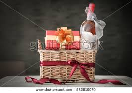 Gift Baskets With Wine Wine Gift Basket Stock Images Royalty Free Images U0026 Vectors