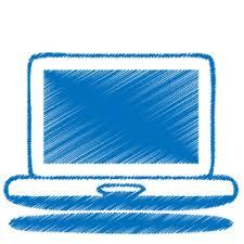 blue sketch laptop icon png clipart image iconbug com