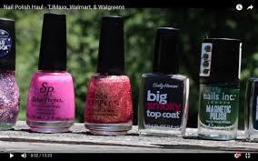 nail polish haul tjmaxx walmart u0026 walgreens youtube