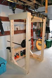 diy wood squat rack plans quick woodworking projects home is