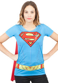 halloween costumes superwoman supergirl suit up sublimated cape tee for women