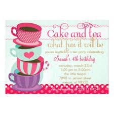 tea cup invitations u0026 announcements zazzle co uk