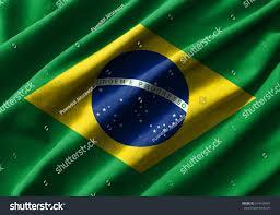 Brazil Flag Image Brazil Flag Painting On High Detail Stock Illustration 674439967