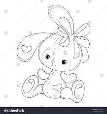 coloring book vector bunny coloring book stock vector 710013007