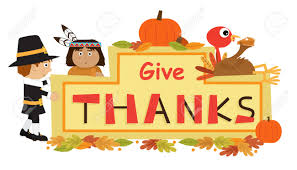thanksgiving indians and pilgrims give thanks sign cute cartoon give thanks banner with pilgrim