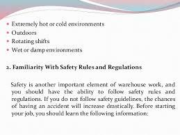 warehouse worker job description 17 18 jntu mech syllb warehouse