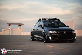 volkswagen gli slammed volkswagen jetta gli with hre 595rs in satin black hre