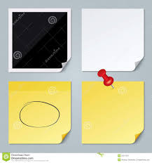 photo frame white paper yellow stick note set stock image