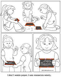 use resources wisely daisy scout coloring page daisy