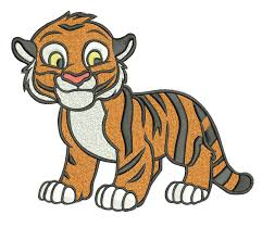 machine embroidery designs tiger raja by onestitch4you on zibbet