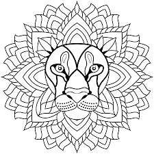 Coloriage Mandala Je Dessine Luxury Dessin Mandala Lion A Colorier