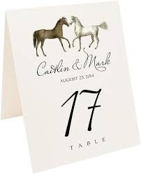 Wedding Table Cards Amble Horse And Equestrian Wedding Table Numbers And Table Cards