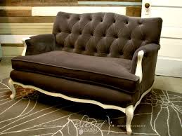 Button Tufted Sofa by Blue Roof Cabin Vintage Sofa Project Diamond Button Tufting