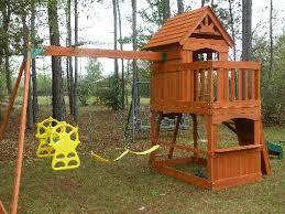 backyard discovery atlantis cedar wooden swing set walmart com