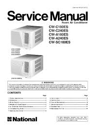 panasonic cw a240es service manual