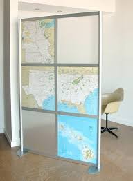 Temporary Room Divider With Door Furniture Frosted Glass Wall Partitions With Chrome Metal Frame