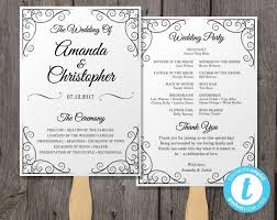 wedding programs fans templates vintage wedding program fan template fan wedding program template