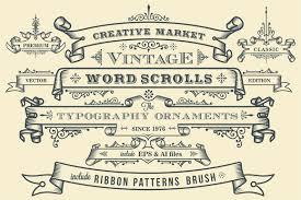 Vintage Ornaments by Ribbon Photos Graphics Fonts Themes Templates Creative Market