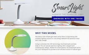 Natural Light Desk Lamp by Verilux Smartlight Natural Spectrum Led Desk Lamp Adjustable