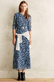 charles henry country floral maxi dress in blue lyst