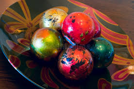 decorative ornaments in bowl stock image image 35339023