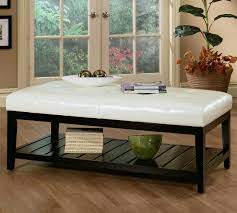 white ottoman coffee table awesome glass coffee table for glass
