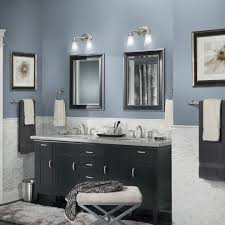 best grayish blue paint colors for modern bathroom with black