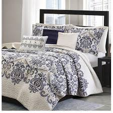 Navy Blue And Gray Bedding Bed Quilts U2013 Sky Iris