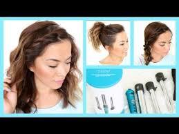 easy medium hairstyles for moms on the go 3 easy summer hairstyles for short hair thatsheart youtube