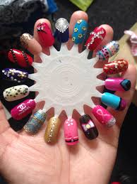nail designs nail art customised false nails