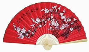 oriental fans wall decor amazon com classic 35 oriental feng shui wall fan red flowers