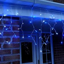 twinkling white led icicle lights metre led icicle lights in blue white connectable 320 led s