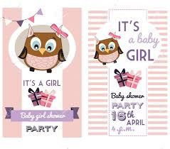 Baby Shower Invitations Card Baby Shower Invitation Card Template With Cute Owl Royalty