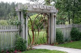 Front Yard Metal Fences - garden gate landscape ideas for garden gate landscaping front yard