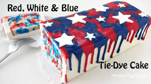 How To Tie Dye An American Flag Red White And Blue Tie Dye Cake Youtube
