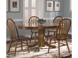 liberty furniture nostalgia oval pedestal dinner table w 4