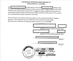 vaxtruth org example religious exemption letter