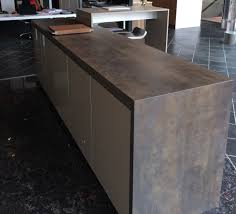 Vancouver Kitchen Island by Island With Waterfall In Iron Moss Neolith In The Ultimate