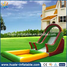 happy water park plato 0 9mm pvc outdoor inflatable water slide