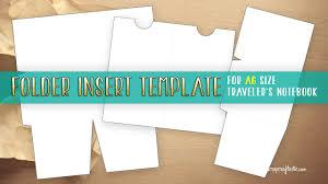 Scrapbook Inserts Folder Insert Template For A6 Size Traveler U0027s Notebook