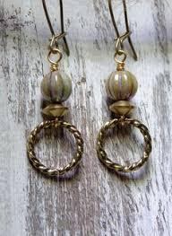 Two Golden Rings Bead Chandelier Repurposed Vintage Jewelry Repurposed By Settingsundesignco