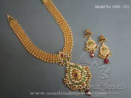 gold jewellery necklace sets images Gold jewellery necklace set from tibarumal south india jewels jpg