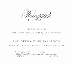 reception cards wording 50 awesome stock of wedding reception card wording wedding